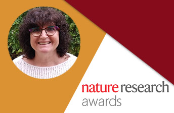 prof. Hanah Margalit and Nature Research Award logo